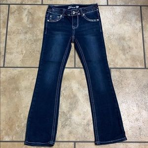 Girls Size 8 Sequined Blue Jeans